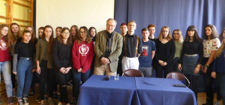 Światowej sławy reżyser Krzysztof Zanussi w naszym LO